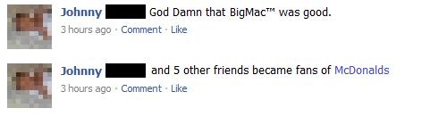 McDonalds Social Advertising